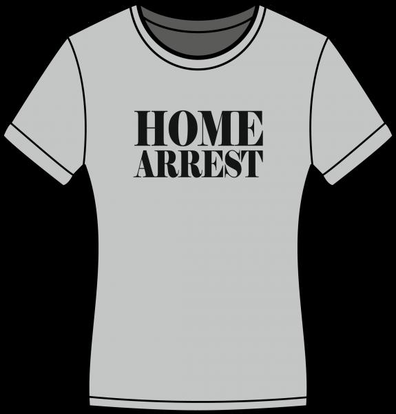Damen T-Shirt Home Arrest