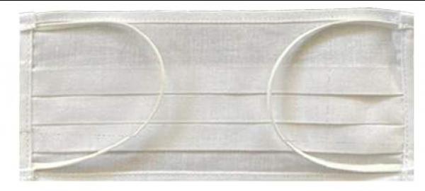 Mund-Nasen-Maske mit Gummiband weiß