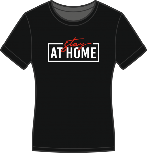 Damen T-Shirt Stay at Home