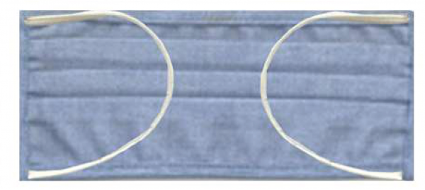 Mund-Nasen-Maske mit Gummiband hellblau